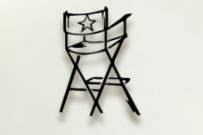actor's chair metal wall art