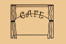 Cafe Window kitchen & coffee art
