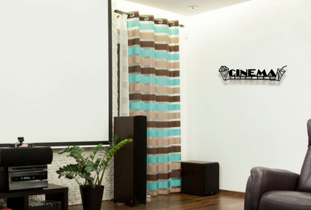 Metal letter wall art 3D- Movie Themed-home theater-Popcorn