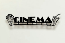 Cinema Metal Wall Sculpture