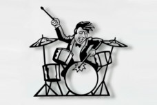 Drummer music wall art