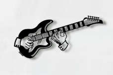 Guitar Metal Wall Sculpture