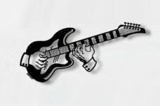 Guitar Metal Wall Sculpture