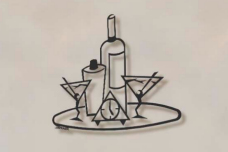 Martini Tray bar wall art