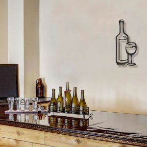 Single Wine Bottle Wall Art