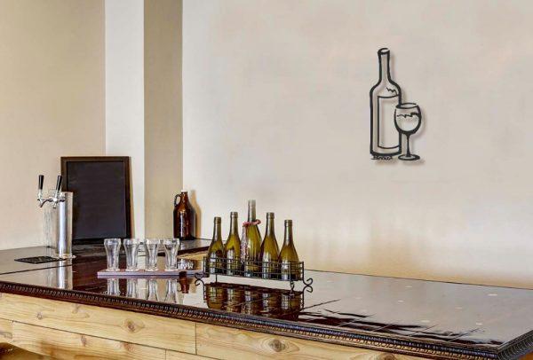 Single Wine Bottle Wall Art
