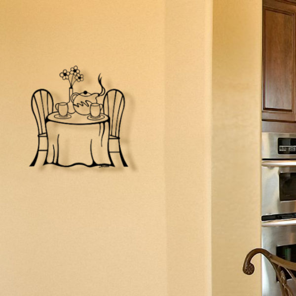 Tea Pot Party Metal Wall Art