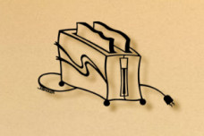 Toaster kitchen metal wall art