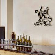 Vino Metal Wall Sculpture