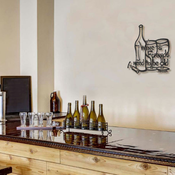 Wine Metal Wall Sculpture