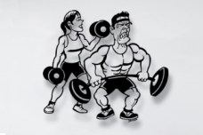 Gym Metal Wall Sculpture