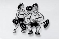 Gym Metal Wall Sculpture
