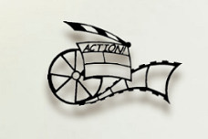 Movie Reel home theater wall art