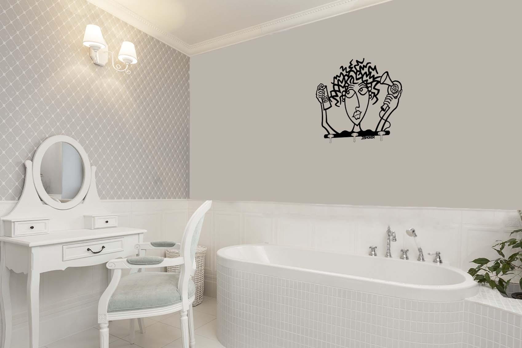 Bathroom metal wall art