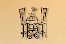 Bistro Table Metal Wall Sculpture