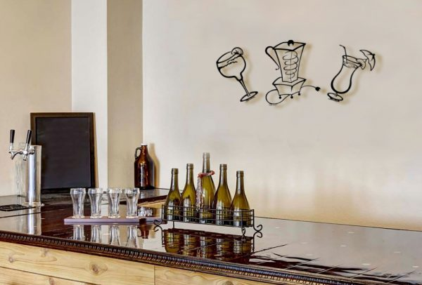 Metal Wall Art Décor for Kitchens & Bars