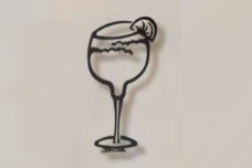 Margarita Glass metal bar art