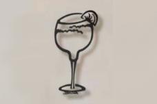 Margarita Glass metal bar art