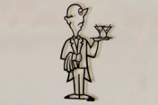 Medium Martini Man wall sculpture