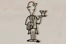 Medium Martini Man wall sculpture