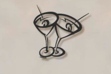 Martini Metal Wall Sculpture
