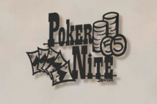 Poker Night metal bar art