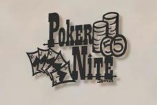 Poker Night metal bar art