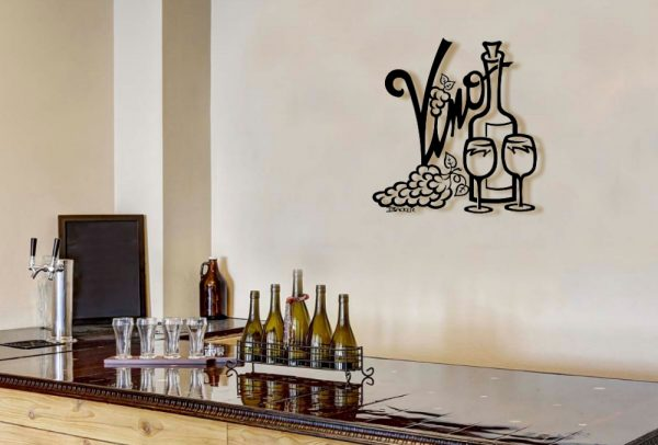 Vino Metal Wall Sculpture