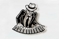 Piano Man music metal art